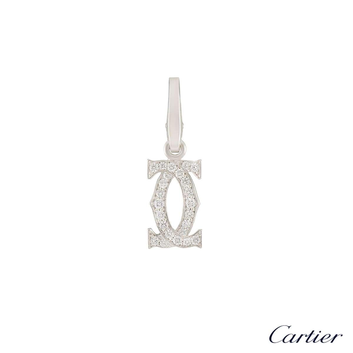 C de Cartier White Gold Diamond Charm